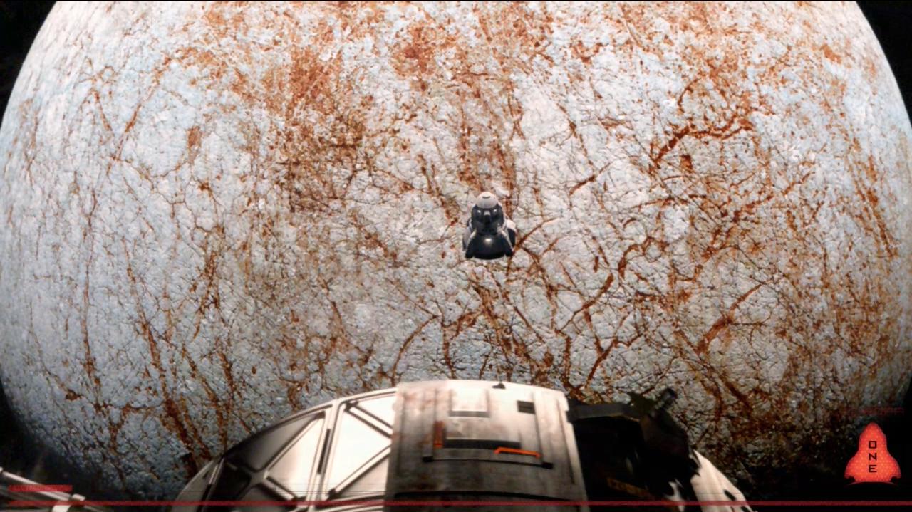 Mystery awaits - The landing module descends onto Europa