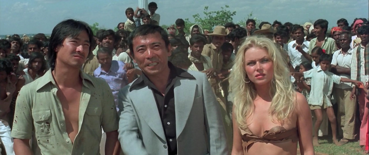 From left, the central characters of Mighty Peking Man (minus the giant monkey): Johnny, Lu and Samantha. An early example of cross-cultural globalization or a monumentally bad movie? You decide.